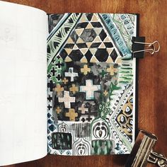 Two if by Sea Studios abstract pattern sketchbook : 56/365