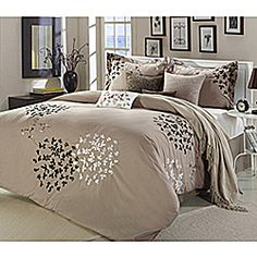 Cheila Taupe 8-piece Comforter Set