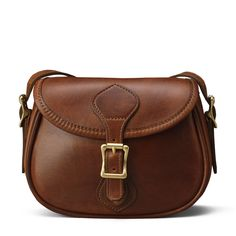 Vintage Brown Leather Saddle Crossbody Handbag | J.W. Hulme Co.
