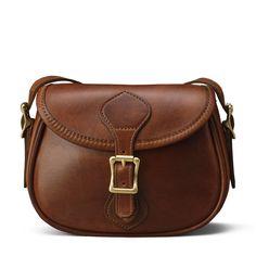 Small Shoulder Handbag Flap Bag - Distressed Brown Leather | J.W. Hulme Co.
