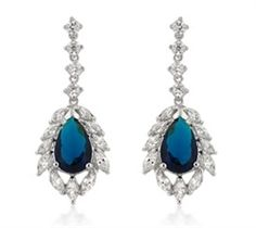 Treat yourself to a pair of stunning sapphire earrings
