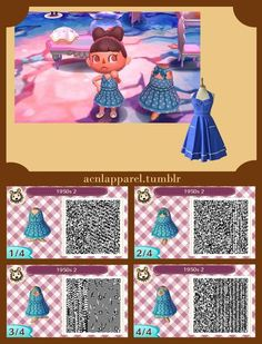 Request 1950s style dress I loved the red polkadot 1950s dress so much I made one of my own based off another dress. I really love the low necklines. Vintage- even in Animal Crossing.