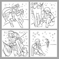 Saint Martin of Tours sharing his cloak. Feast is November 11 Flag Coloring Pages, Flower Coloring Pages, Coloring Pages For Kids, Coloring Books, Catholic Kids, Catholic Saints, Catholic Feast Days, Hl Martin, Saint Martin