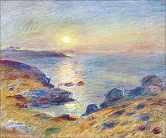 Pierre-Auguste Renoir (1841-1919) Coucher de soleil à Douarnenez