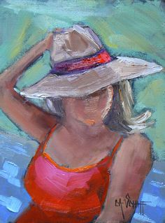 """Original Figurative Painting, Daily Painting, 6x8 Painting,  """"Boat Ride"""" OOAK Oil Painting"""