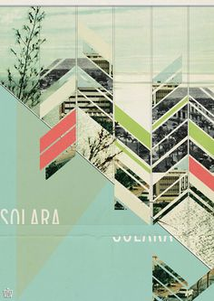 I like the geometric pattern and the image of the city trees sky and text Chastity