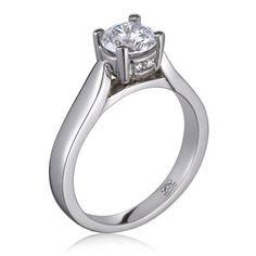 Secret diamonds...!  Elegant engagement ring from Lieberfarb