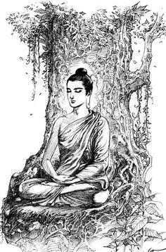 Solitude is Bliss Gautama Buddha, Buddha Buddhism, Buddha Art, Lord Shiva Painting, Buddha Painting, Lord Buddha Wallpapers, Buddha Drawing, Baby Buddha, Buddha Temple