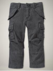 houndstooth slim cargo pants [roman getaway-gap]