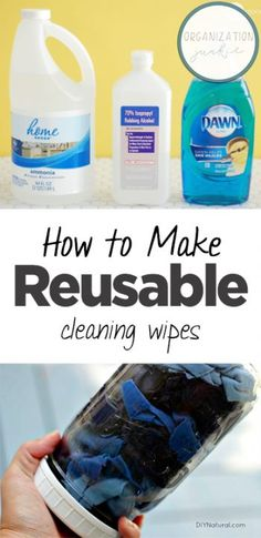 How to Make Reusable Cleaning Wipes