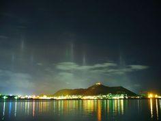 漁火光柱と函館山