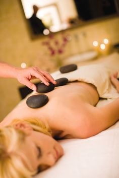 Hot stone massage in the Rock Spa at Hard Rock Hotel. Yes please!