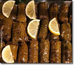 "Stuffed Grape Leaves (Warak enab mehshi) in Arabic ""ورق عنب محشي"" is a middle eastern dish that can be served as a side dish or a main dish."