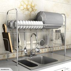 Dish Rack Kitchen Over Sink Storage Stand | Trade Me