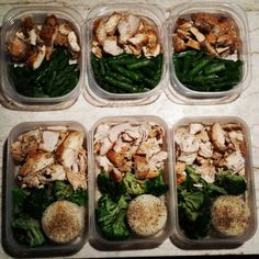 His and Her meals for part of the week just a small part of my meal prep today along with hard boiled eggs veggies yogurts and #quest protein bars #mealprepsunday #mealprep #lowcarb #carbs #protein #fitness #cleaneats #healthyeating #motivation #fitlife #nutrition #diet #weightloss #powerliftinglife #chicken #aspargus #broccoli #rice by healthy_new_steph03
