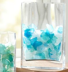 Sea Glass Vase Filler: http://www.completely-coastal.com/2012/10/where-to-buy-sea-glass-for-crafting-and-jewelry-making.html Where to Buy Seaglass. Machine Tumbled and Authentic Seaglass.