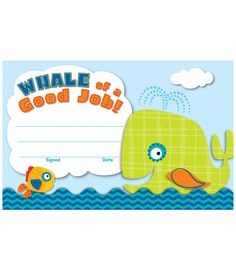 "Seaside Splash Recognition Awards - Make a huge splash in your classroom with the Seaside Splash Recognition Awards to celebrate jobs well done! Easy to personalize and customize to any occasion and student. Available in packs of 30. Great to have on hand to celebrate students' accomplishments and achievements. Each sheet measures 5"" x 8 ½""."
