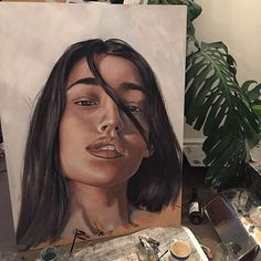 alunaes Somewhere across the oceans there's a beautiful being by the name of @gabriella_bowden painting my smug lil face 😎😎😎