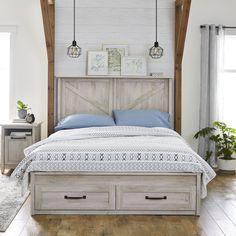 Queen Platform Bed Frame, Best Platform Beds, Platform Bed With Storage, Bed Frame With Storage, Diy Bed Frame, Rustic Platform Bed, Wooden Bed With Storage, White Platform Bed, Queen Bed Frames