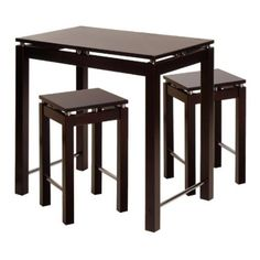 3 Piece Italian Bistro Counter High Table Set $120.55 - http://www ...