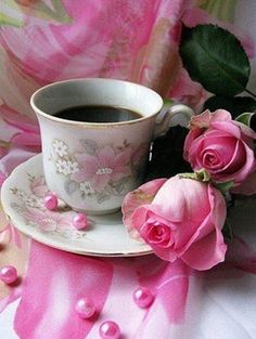 R o s e s & coffee. Thanks, love!