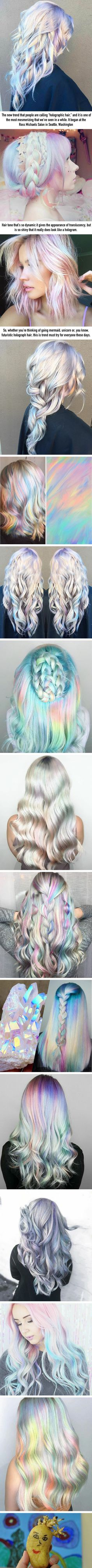 Holographic Hair Is the Fairidescent Dye Trend We've Been Waiting For Holographic Hair Is the Fairidescent Dye Trend We've Been Waiting For<br> More memes, funny videos and pics on Opal Hair, Rides Front, Coloured Hair, Unicorn Hair, Pretty Hairstyles, Short Hairstyle, Hairstyle Ideas, Party Hairstyle, Short Haircut