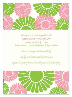 baby girl shower daisy invite