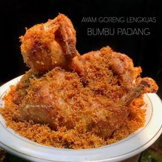 Indonesian Food, Indonesian Recipes, Padang, Onion Rings, Asian, Cake Cookies, Chicken Wings, Food And Drink, Cooking Recipes