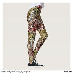 Shop music elephant leggings created by Ogi_Seagull. Elephant Leggings, Music, Pattern, Pants, Design, Women, Fashion, Musica, Trouser Pants