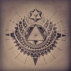 Jake Haselman #dotwork #sacredgeometry #...