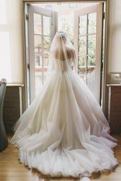 Modern ballgown: http://www.stylemepretty.com/2015/05/26/modern-pink-wedding-at-berkeley-church/ | Photography: Mango Studios - http://mangostudios.com/