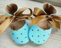 1d05a256c0050 Baby Shoes Booties Sewing Pattern - Basic Shoes - Ten Sizes - Babies -  Preemies - Dolls - PDF e-Patt
