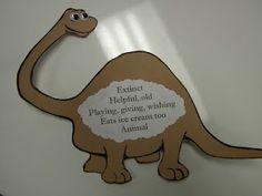 Dinosaur from Danny and the Dinosaur- Cinquain Poems