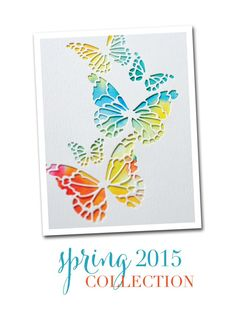 Featuring Memory Box's Reverse Butterfly Collage die SKU 578280 available at www.addictedtorubberstamps.com