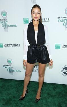 Olivia Culpo Photos: Celebs at the BNP Paribas Taste of Tennis Event