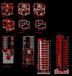 Auto-plan of a apartment building dwg - Plan Autocad - Plan Autocad, Structural Drawing, Hotel Floor Plan, Ceiling Plan, Electrical Plan, Facade Architecture, Home Design Plans, Civil Engineering, Building Plans