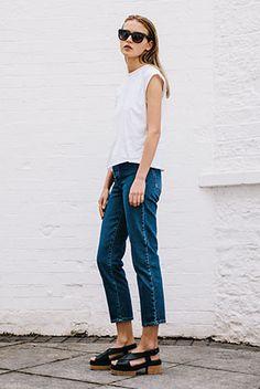 Geta Block in Black Leather #ClarksOriginals #Womens #Clarks #SS15 #Sandals #Shoes