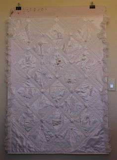 Crazy Quilt made from a Wedding Dress