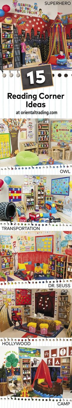 Teach Your Child to Read - Get inspired to create the best reading corner yet with these fun ideas your students will love! - Give Your Child a Head Start, and.Pave the Way for a Bright, Successful Future. Year 1 Classroom, Superhero Classroom, Classroom Layout, Classroom Organisation, Classroom Setting, Preschool Classroom, Classroom Themes, Kindergarten, Reading Corner Classroom