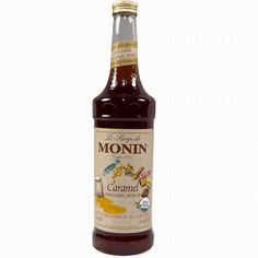 Monin Flavored Organic Syrup 750ml Bottle - Monin Syrups from Whole Latte Love