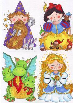 Pohádkové postavičky | ilustrace a obrázky (kliknutímpřejdetenadalšípoložkugalerie) Petra, Preschool, Education, Fictional Characters, Fairy Tail, Short Stories, Catalog, Carnavals, Kid Garden