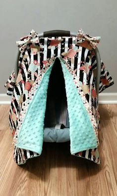 And Children Car Seat Company Car Seat Canopy Minky Dot Grey And White Chevron Pattern Suitable For Men Women