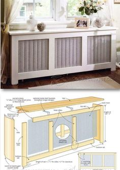 Radiator Cover Plans - Woodworking Plans and Projects | http://WoodArchivist.com