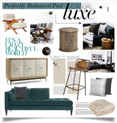 "Ohh chaise sofa~ ""A Perfectly Balanced Pad"" by elske88 on Polyvore"