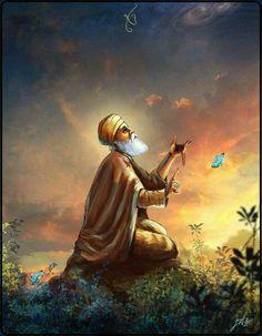 Guru Nanak Pics, Guru Nanak Photo, Guru Pics, Guru Granth Sahib Quotes, Shri Guru Granth Sahib, Religious Photos, Religious Art, Guru Nanak Teachings, Guru Nanak Wallpaper