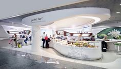 Socially relevant topics in an attractive package: 3deluxe realize a holistic design concept for the perfect day flagship store at Frankfurt Airport. perfect day, the social business enterprise from Wiesbaden, seduces its coffee shop customers to cons