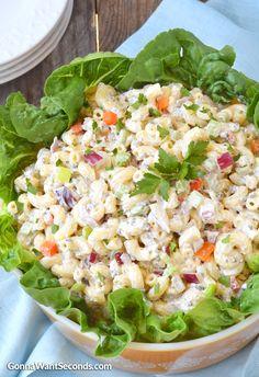 Traditional Macaroni Salad With Super Creamy Yummy Dressing