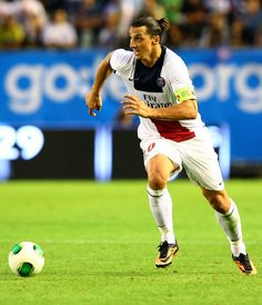 Zlatan Ibrahimovic of PSG runs with the ball during the pre season friendly match between Real Madrid and Paris Saint-Germain at Ullevi on July 27, 2013 in Gothenburg, Sweden.