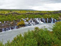 Magical Iceland - Hraunfossar Waterfalls flowing from the Hallmundarhraun Lava Field in [4000x3000] [OC]