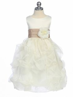 Very cute for the flower girl. I love the sash.